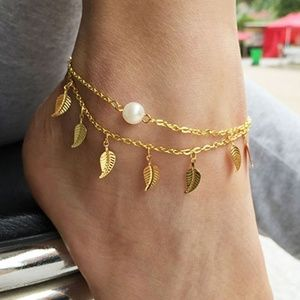 Jewelry - Gold Leaf Anklet